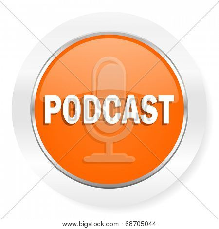 podcast orange computer icon