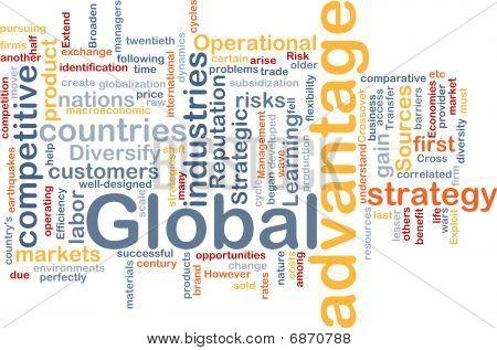Global Advantage Background Concept