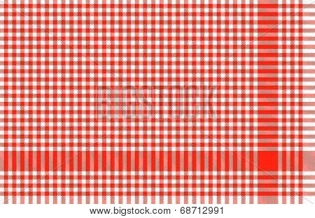 Checkered Tablecloths Pattern Red