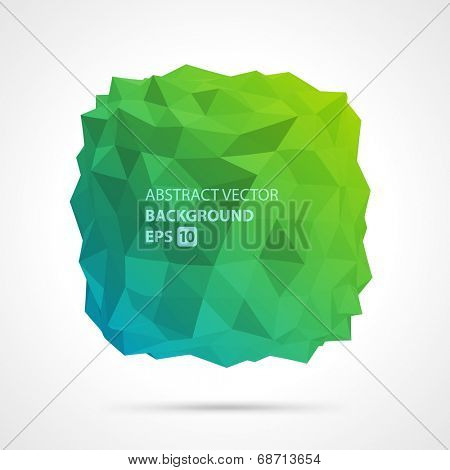 Abstract 3d origami polygonal shape vector design element