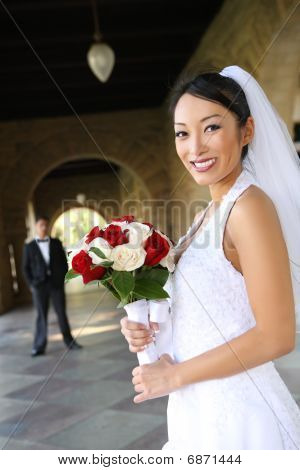Beautiful Bride At  Wedding
