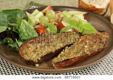 Baked Eggplant Or Aubergine