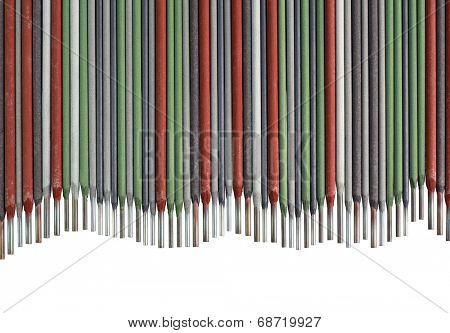 Colorful Welding Sticks Electrodes Wave Background