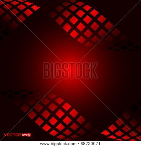 abstract square waves with black background