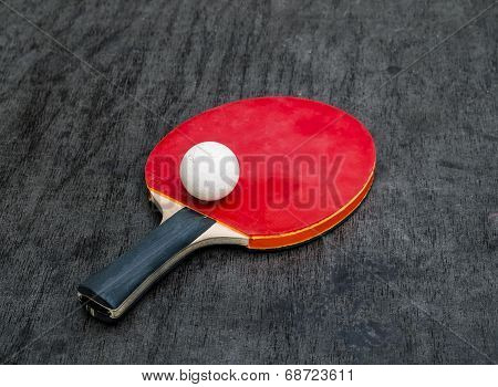 Red Racquet And Ball Tables Tennis Balls