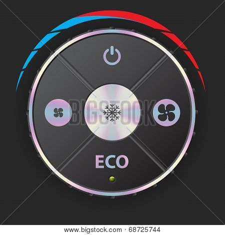 Air Conditioning Gauge With Metallic Elements