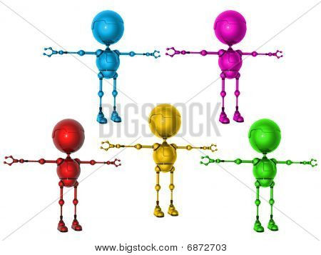 Multicolored Robots Of A Toy