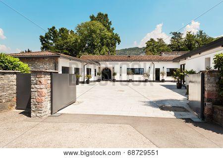 beautiful white house in Ticino, switzerland