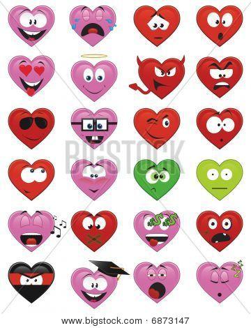 Heart-shaped smiles