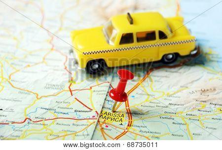 Larissa Greece Map Taxi