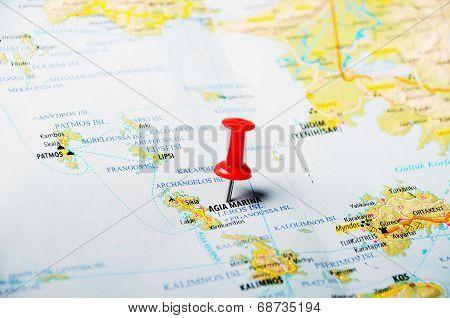 Leros Islands  Greece  Map