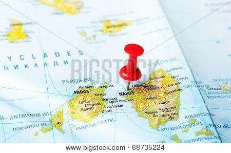Naxos  Island Greece Map