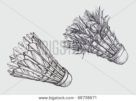 Old and New Shuttlecock