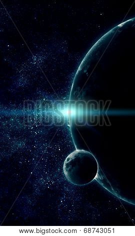 Realistic Illustration Of Planets