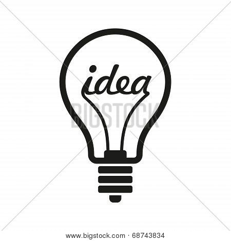 Creative Idea in Bulb Shape as Inspiration Concept Icon. Vector