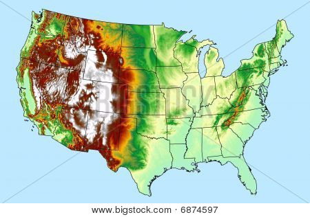 USA DEM DTM elevation model map