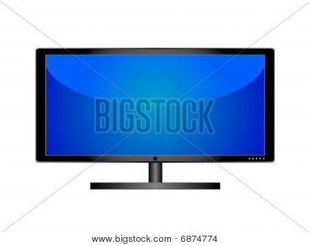 LCD TV.