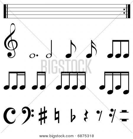 Music notation symbols