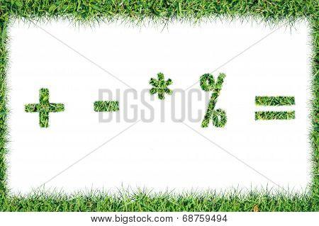 Grass Symbols Quotients Positive Remove Multiply Division