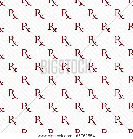 Red And White Prescription Symbol Pattern Repeat Background