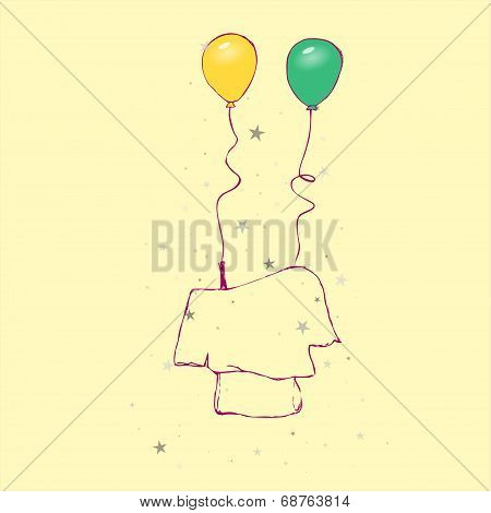 Sketch - chic blouse + balloons