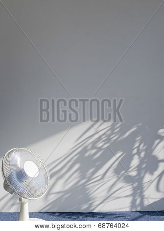 View of an electric fan in empty room
