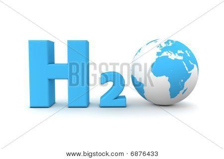 globale Wasserstoff-oxid h2o blau
