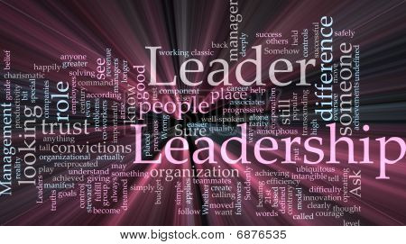 Leadership Word Cloud Glowing