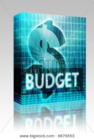 Budget Finance Illustration Box Package