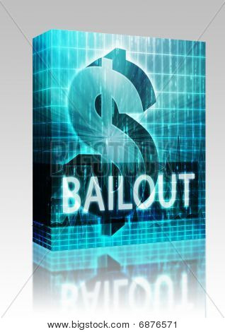 Bailout Finance Illustration Box Package