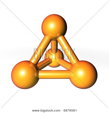 Molecule Structure Gold-orange