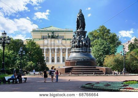 Alexandrinsky Theatre, Monument to Empress Alexandra Feodorovna in Saint Petersburg