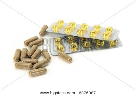 Herbal Pills And Vitamin E