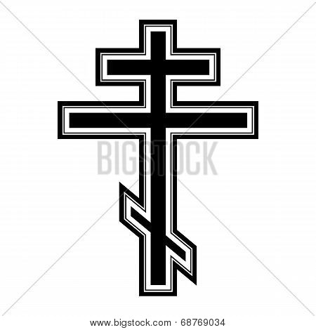 Religious Orthodox Cross Icon