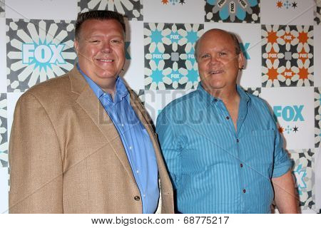 LOS ANGELES - JUL 20:  Joel McKinnon Miller, Dirk Blocker at the FOX TCA July 2014 Party at the Soho House on July 20, 2014 in West Hollywood, CA