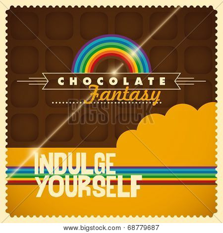 Chocolate background in color. Vector illustration.