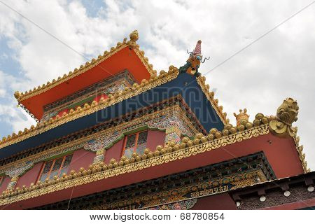 Tibetan Buddhist temple in Dharamsala, India