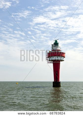 Lighthouse Alte Weser in the North Sea