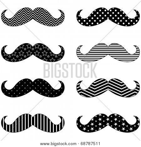 Mustache Pattern Set
