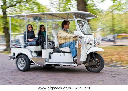 Solar Powered Tuc Tuc At Full Speed