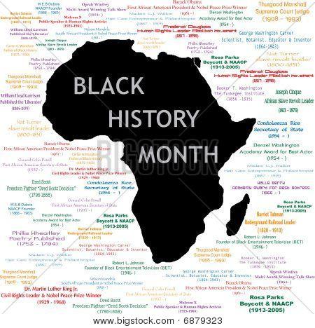 Colagem de mês de história negra