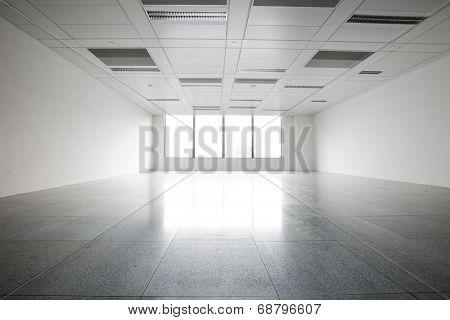 Bright empty office building interior