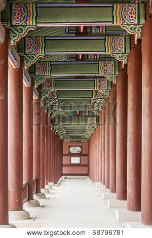 Colonnade At The Gyeongbok Royal Palace