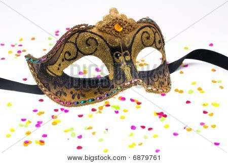 Carnival Mask With Confetti