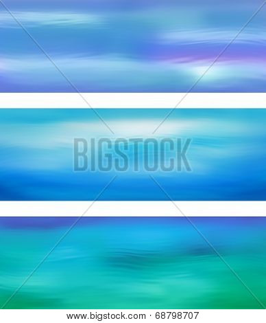 Abstract Vector Blue Water Banner