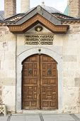 image of rumi  - Mevlana Museum Door in Turkey city Konya - JPG