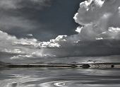 stock photo of thunderhead  - New Mexico USA Landscape with Dramatic Clouds - JPG