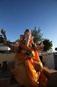 stock photo of ganesh  - Ganesh temple in Mont - JPG