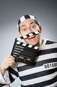 picture of inmate  - Inmate with the movie clapper - JPG
