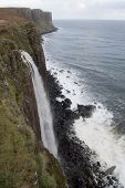 stock photo of kilt  - kilt rock waterfall on the isle of skye